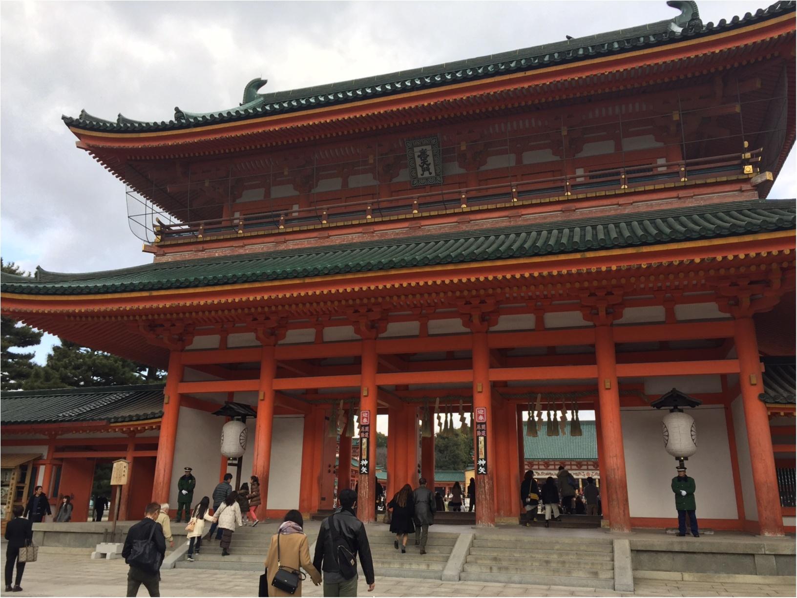 初詣は京都・平安神宮へ。2017年「なりたい私に着がえよう。」_2