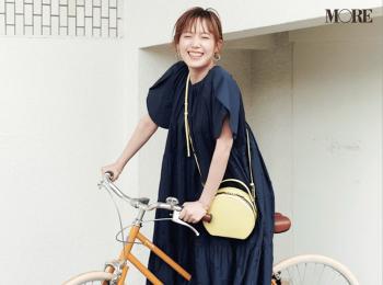 本田翼が自転車に乗ってるのって、レア?【モデルのオフショット】