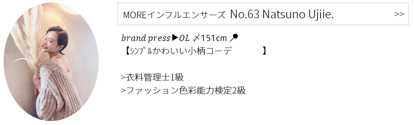 インフルエンサーズ   No.63 Natsuno Ujiie.プロフィール