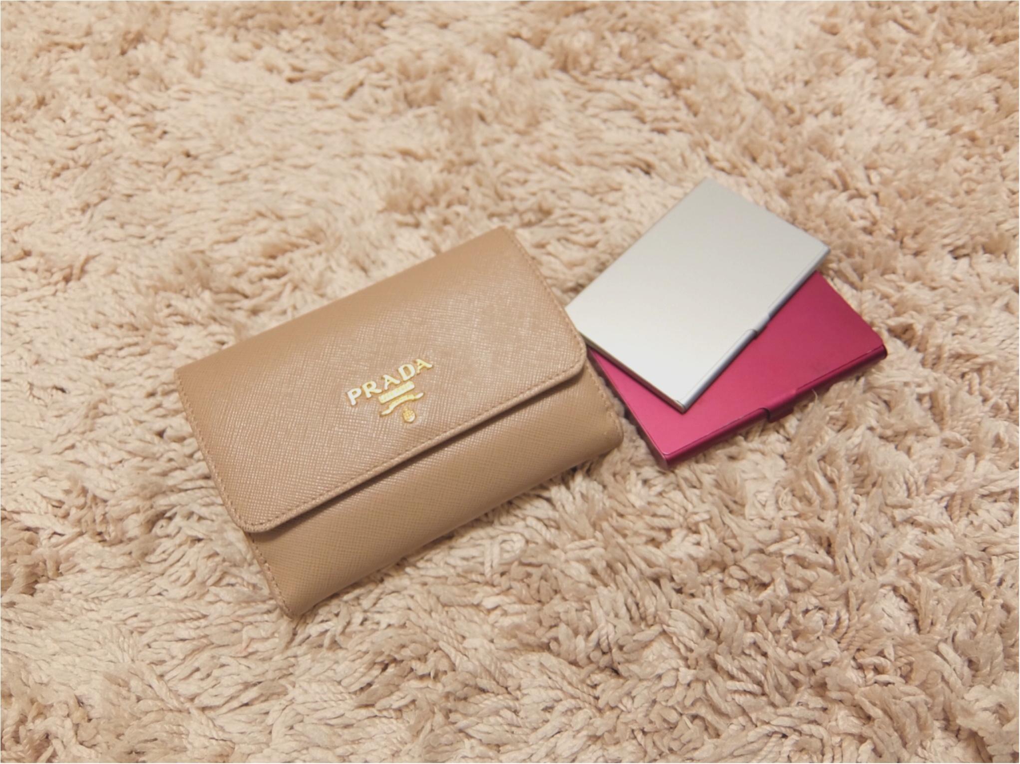 愛用財布は【PRADA】♡二つ折り派さん必見の≪カード収納術≫も紹介!_5