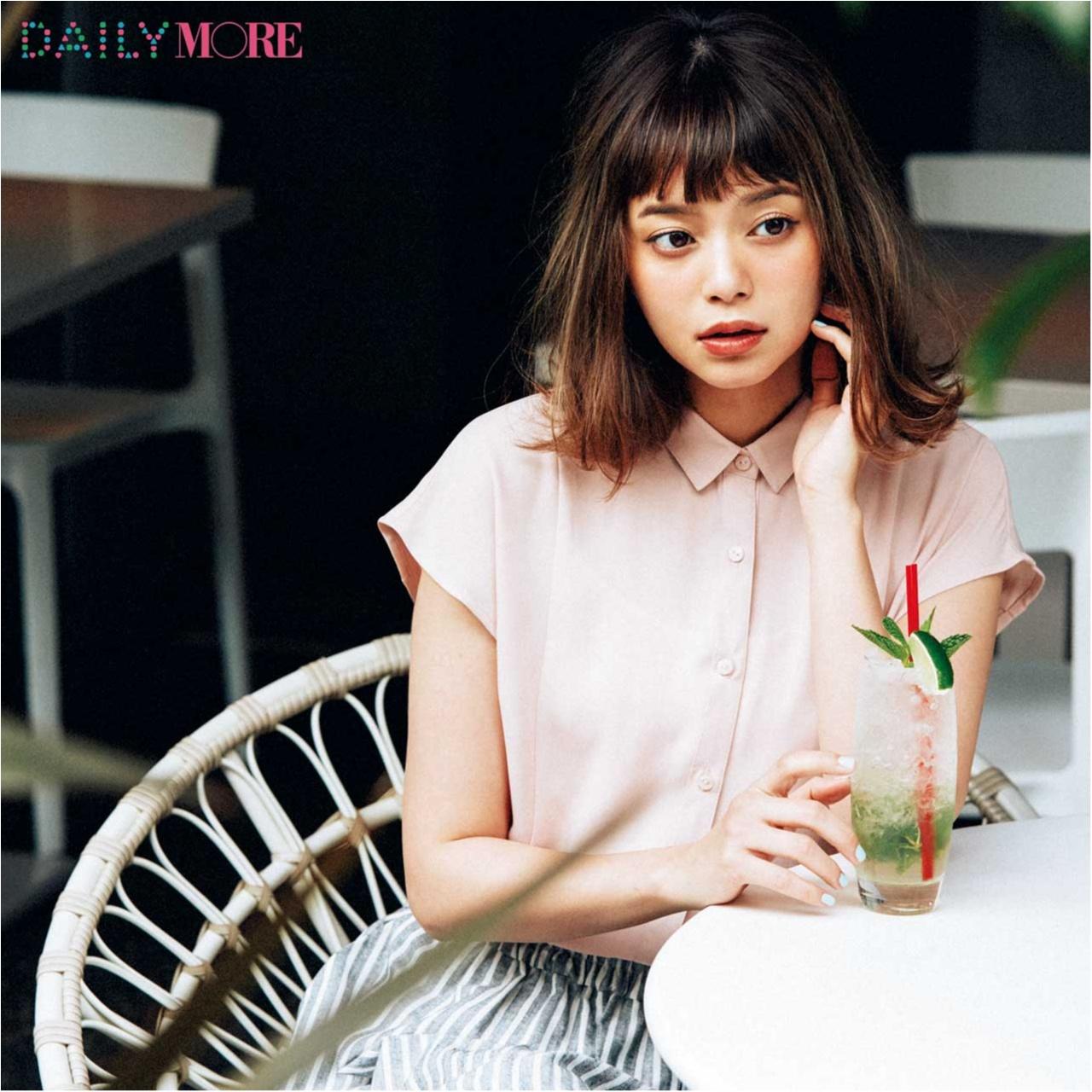 【今日のコーデ/岸本セシル】初対面の人と会う火曜日はピンクのモテシャツに頼っちゃう!_1