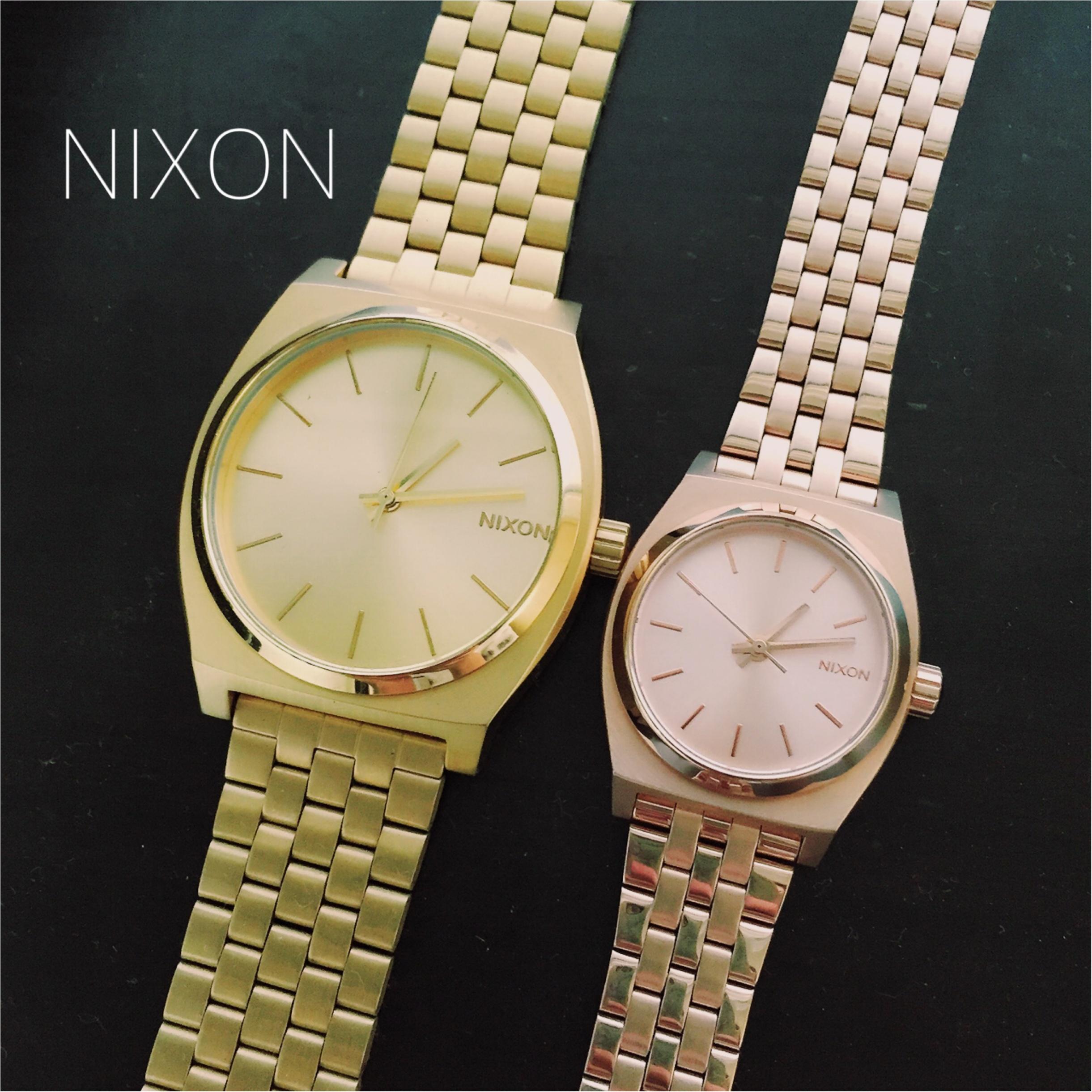 ♡肌をキレイに見せてくれる♡NIXONの腕時計_2