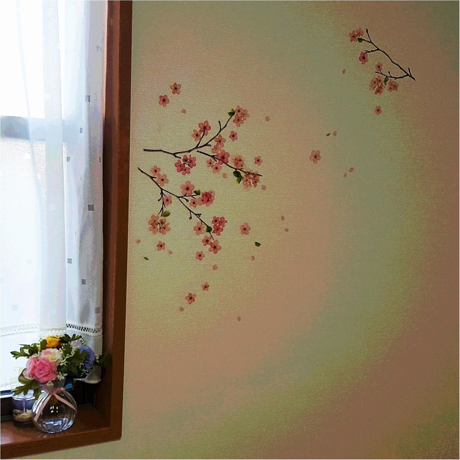 いつでも桜見。。簡単に模様替えできるウォールステッカーが使える!_1