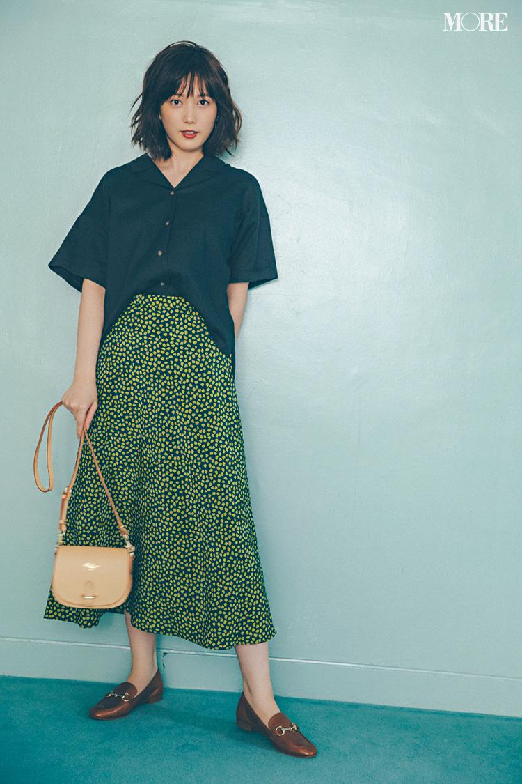 【今日のコーデ】<本田翼>大人っぽく華やぐドット柄スカートで気分を上げて6月がスタート!_1