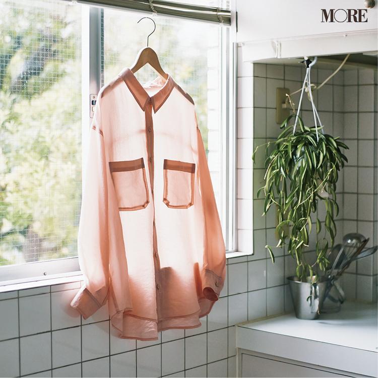 自宅で洗えるストラのシアーシャツ