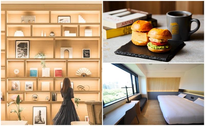 ホ記事内で紹介する3ホテル(写真右上から時計回りに)『ランプライトブックスホテル名古屋』、『ホテル・アンドルームス名古屋栄』、『ニッコースタイル名古屋』のコラージュ