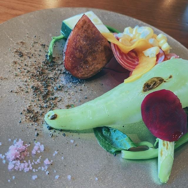 ペアリングランチ 新鮮野菜 コース料理