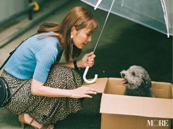 「通勤途中、雨に濡れた子犬が……」。内田理央主演・毎日連載『ミスブラウンの愛され着回し』3日目