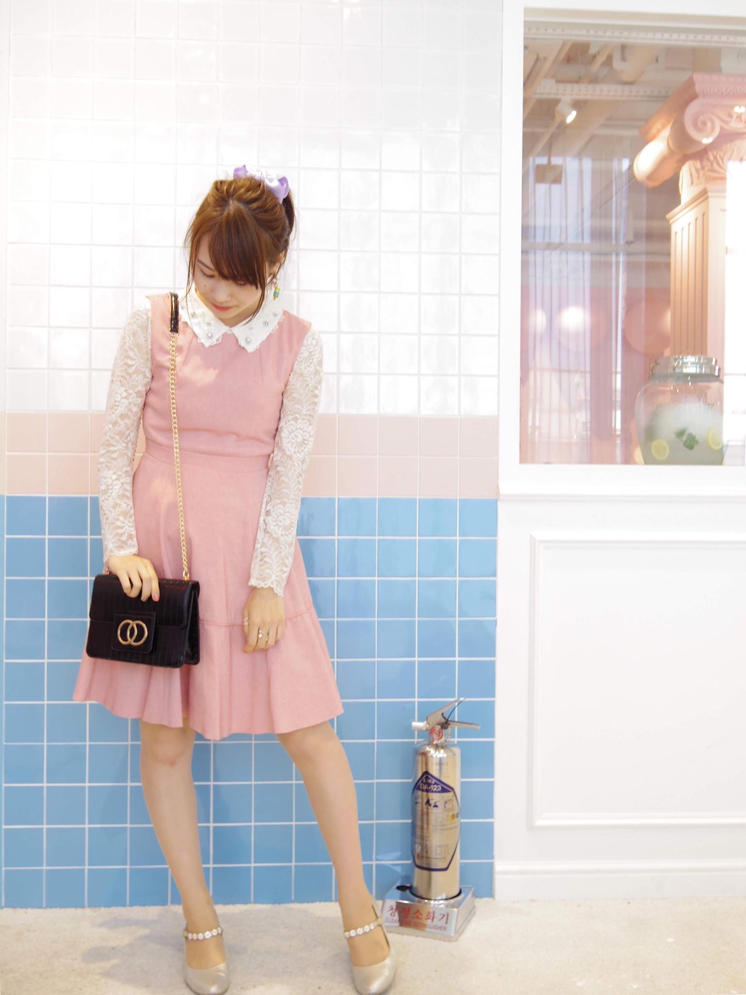 【れいかのヒロインコーデVol.3】韓国カフェ巡りはピンク縛りで♡_1