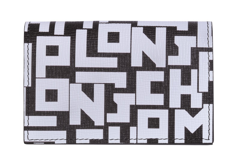 ロンシャンの黒×ロゴ財布