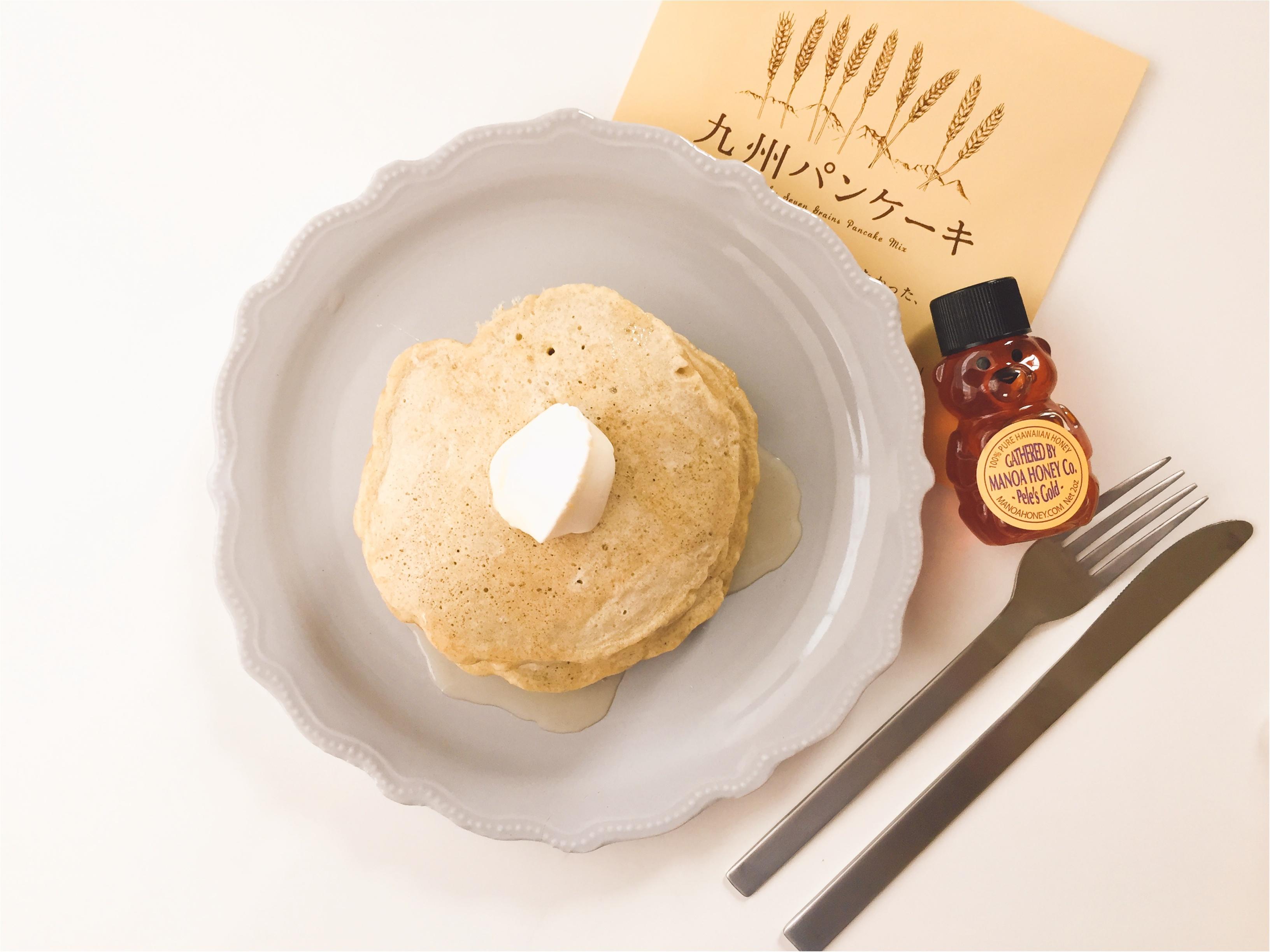 【おうちカフェ】シンプルな美味しさ!ふわもち食感がたまらないっ!『九州パンケーキ』で朝が楽しみになる!!_1