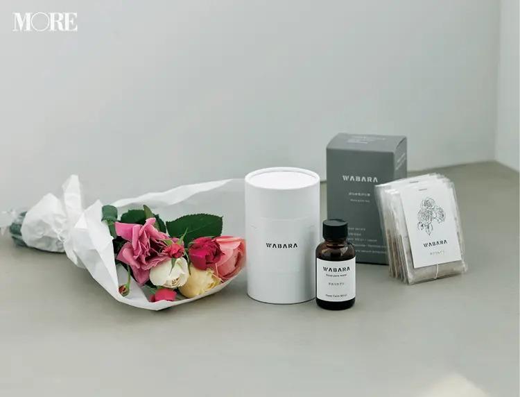 プレゼントにおすすめのRose Farm KEIJIのわばら束とばらの生体水&花びら茶のセット