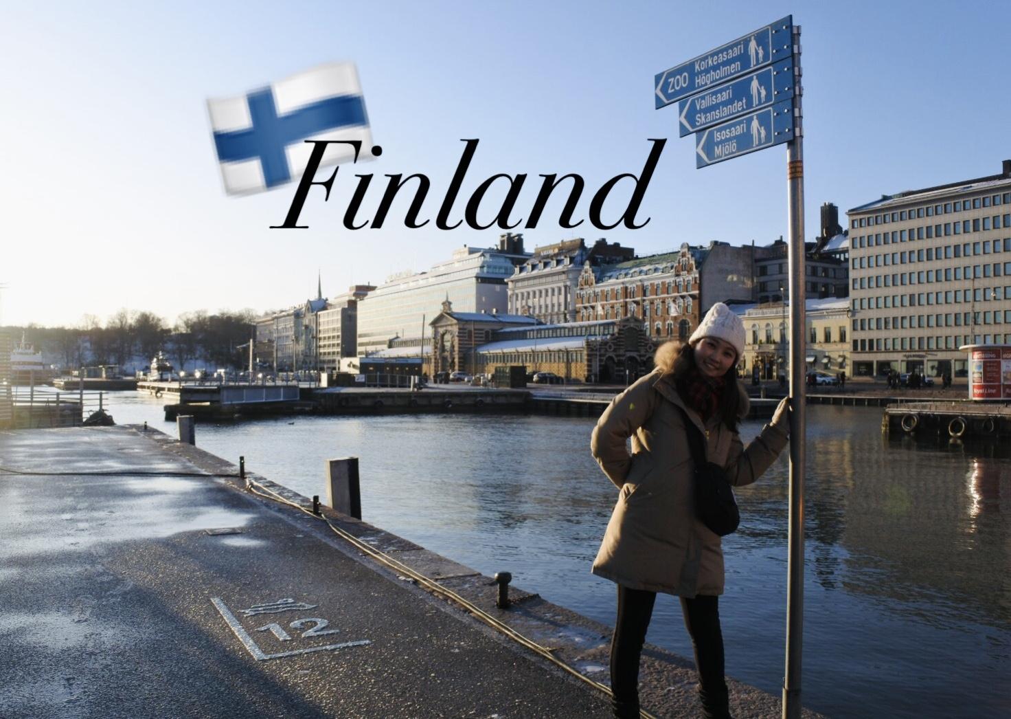 フィンランドのヘルシンキで撮った私が写っている写真