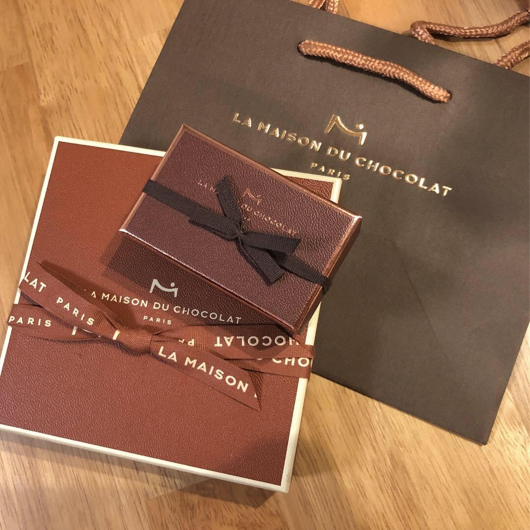 《Valentine2019》本命チョコは〈LA MAISON DU CHOCOLAT 〉ちゃっかり自分も食べたくて、、、♡_1