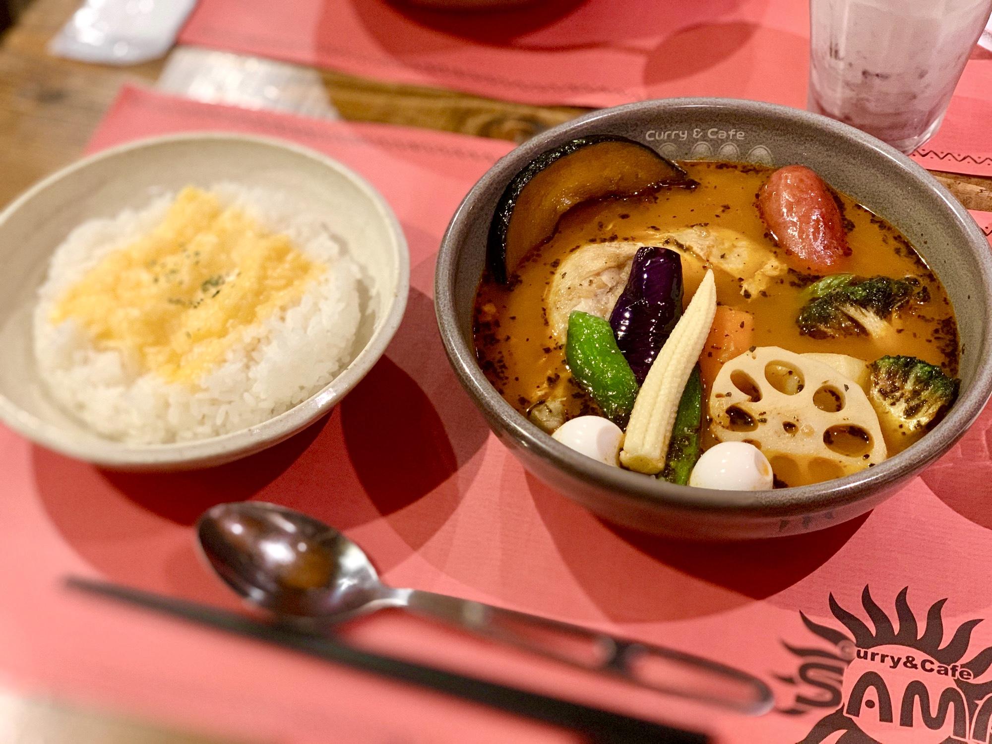 《札幌発の人気店❤️》東京•神田【Curry&Cafe SAMA】の絶品!スープカレー☻_3