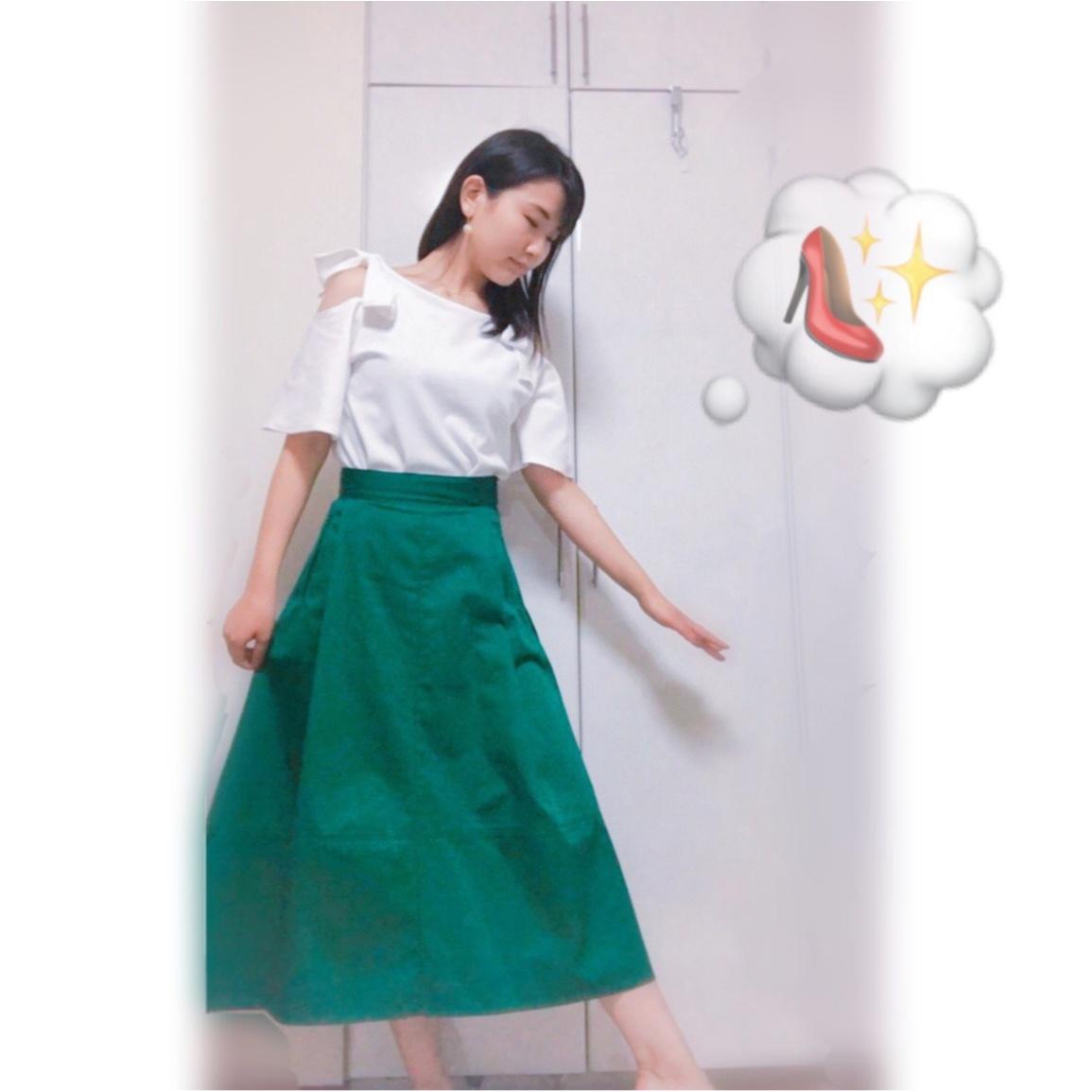 ▷夏から秋まで❤︎【グリーンスカート】でレディなOFFSTYLE_4