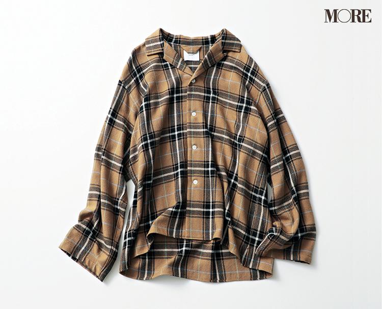 本田翼が秋トレンドの大本命・ブラウンのシャツジャケットを着てみたら……?_3