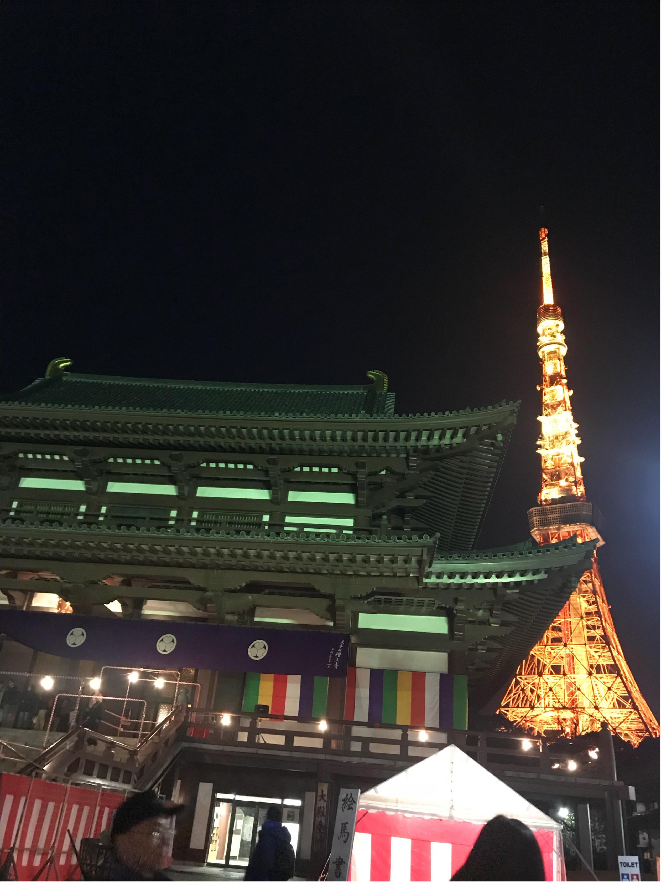 【東京タワー見ながら初詣】あけましておめでとうございます✭2018年もはっぴーな1年にするために♡すてきスポットで初詣に行きましょう!_3