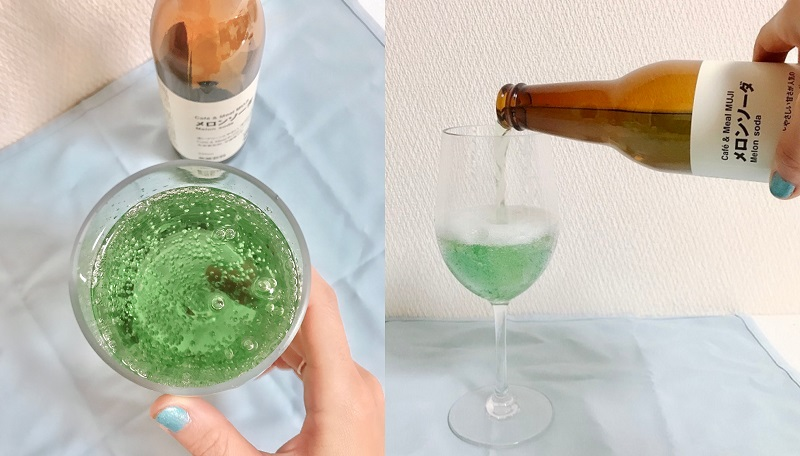 『無印良品』のメロンソーダが、淡いグリーンで可愛い♡ バズり新作ドリンクをチェックしてみた!!_3