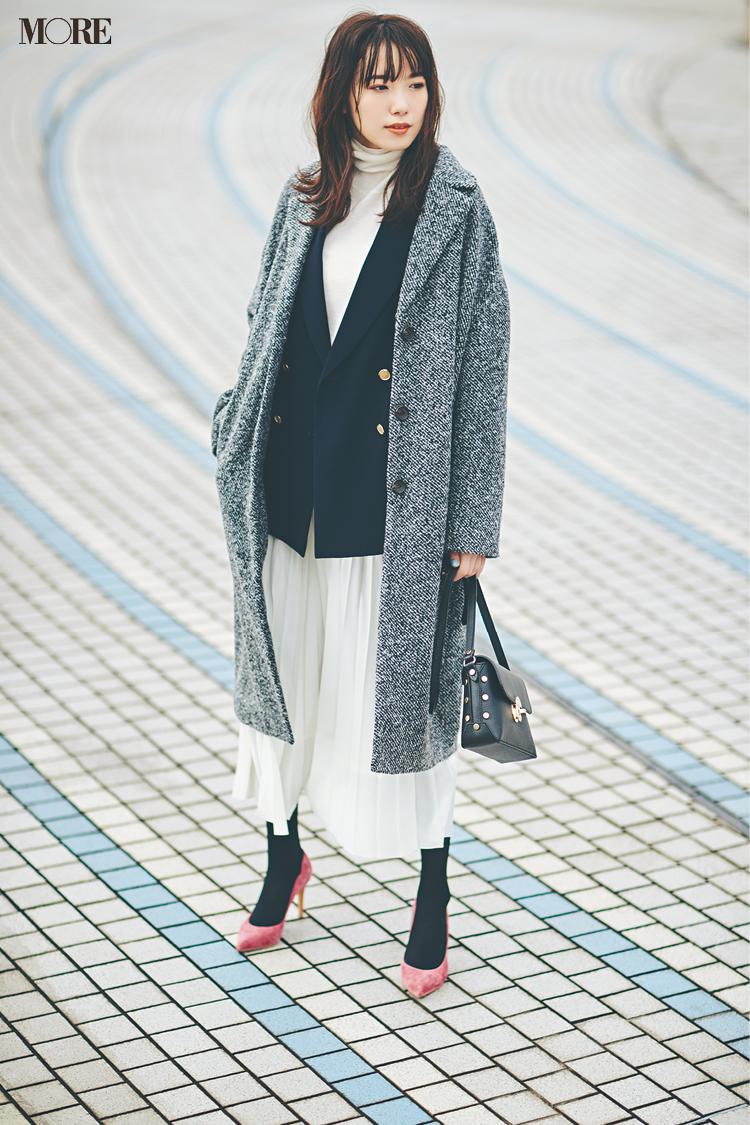 【今日のコーデ】<飯豊まりえ>寒暖差が激しい一日はジャケットとコートを重ねて快適おしゃれ!_1