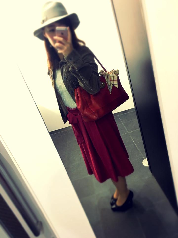 【ファッション】赤deおでかけ秋コーデ_3