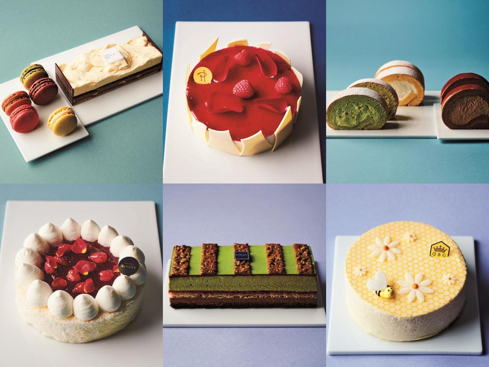 『三越伊勢丹』オンラインサイトで購入できる冷凍ケーキおすすめ6品のコラージュ