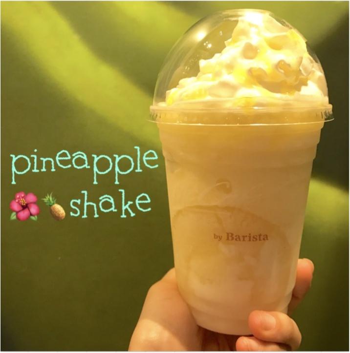 【FOOD】マックカフェでこの夏飲める:)パインがまるっと入ったスムージー★_1