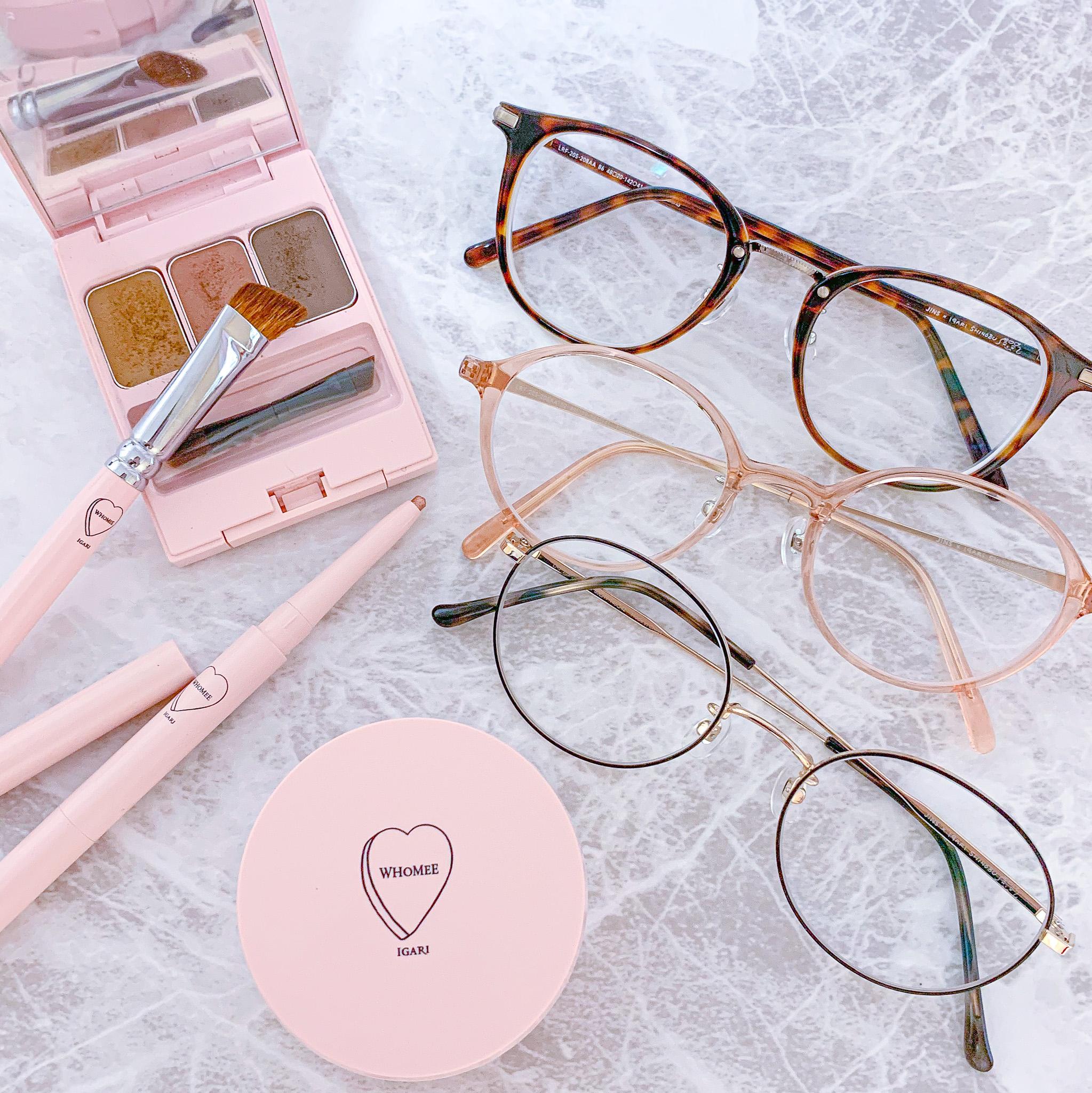 【メガネ主体のメイクが可愛い】JINS×イガリシノブのメーキャップメガネ_6