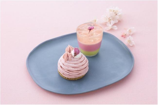 テーブルの上に桜満開♡ 『パティスリー キハチ』の桜スイーツでお花見気分_1