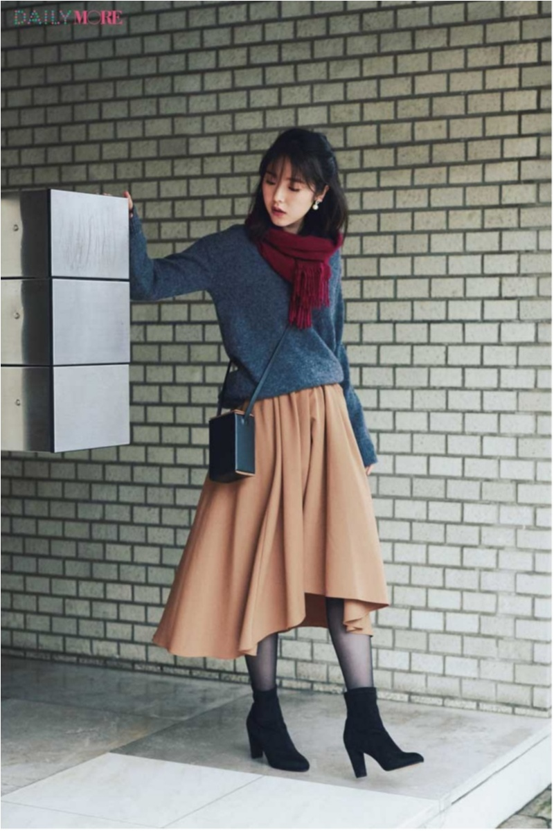 地味になりがちな冬こそ華やかに! 大人かわいい「フレアスカート」のコーデまとめ♡_1_3