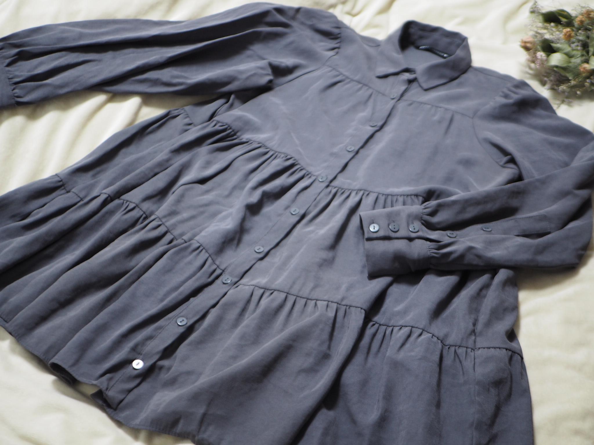 【ZARA】今から春まで着回せる! おすすめのトレンド服《ティアードシャツ》★_1