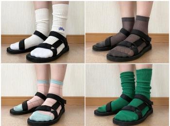 サンダル×靴下、相性がいいのはどれだ⁉︎ 印象別・おすすめ靴下4選