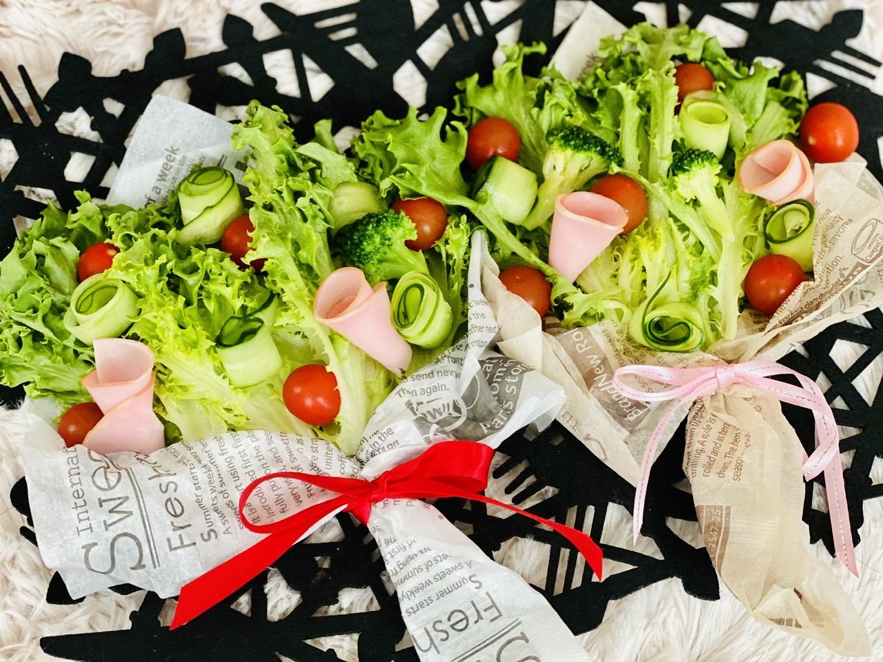 【おうちごはん】実は超簡単!?食べられる花束《ブーケサラダ》が華やかで可愛い♡_2