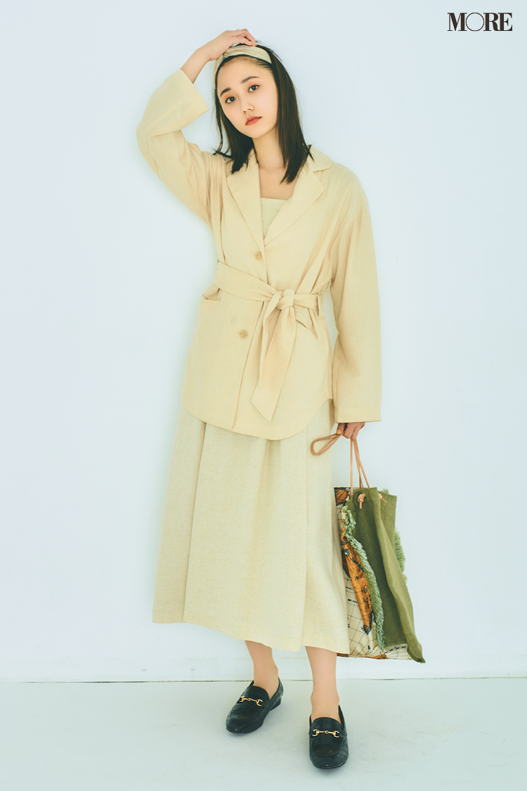 【今日のコーデ】<鈴木友菜>ワンピース+ジャケットの美人なセットアップで日常をちょっと素敵に♡_1