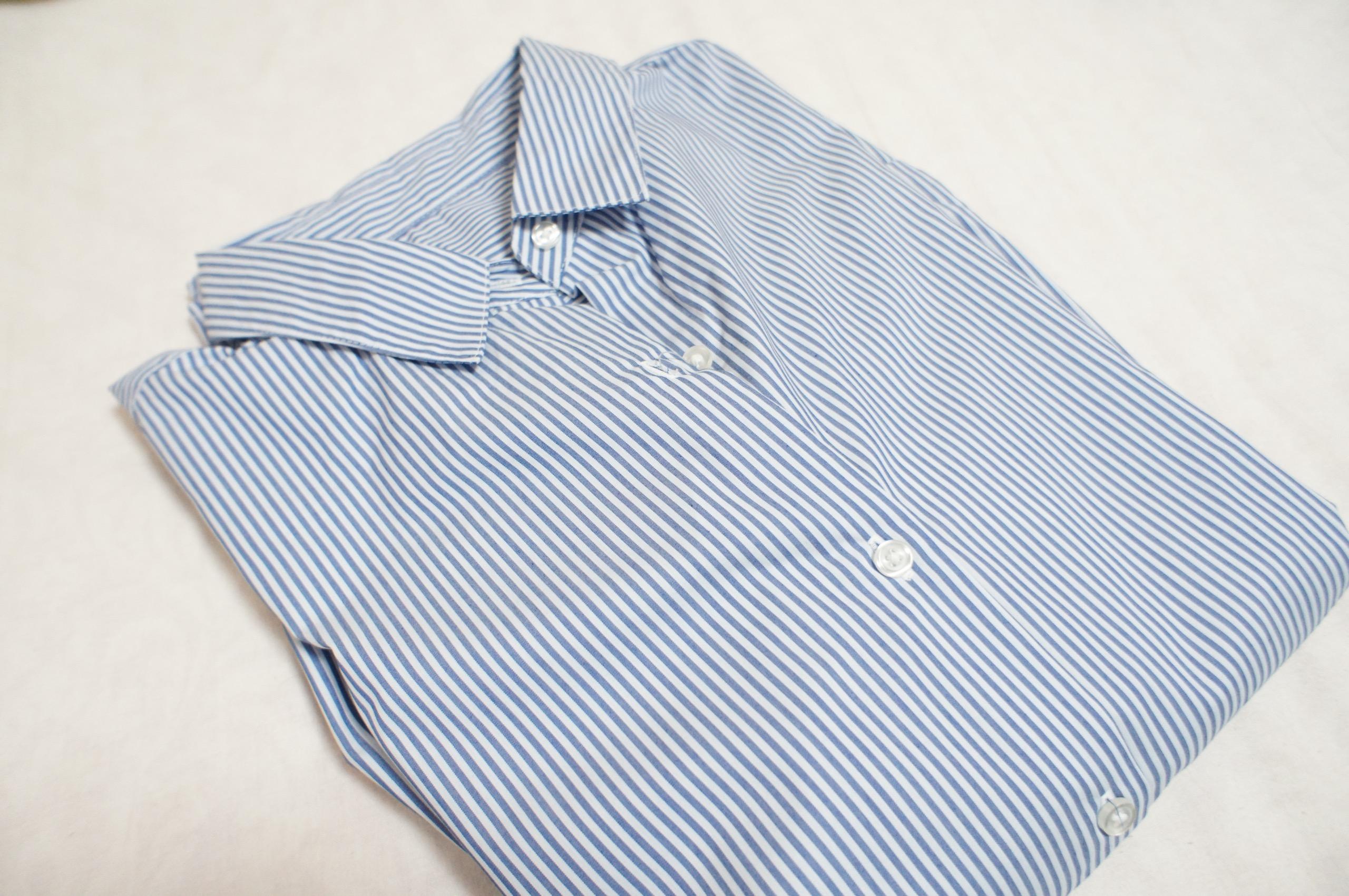 《今買って春まで使える❤️》【GU】の初売りセールで買った2WAYストライプオーバーサイズシャツが優秀☻_1