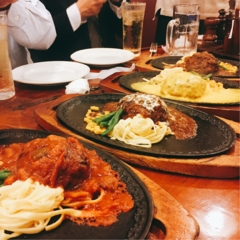 megourmet.②【浅草のレトロなお店で、絶品国産牛ハンバーグが食べ放題!】