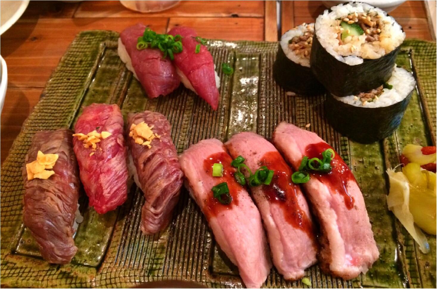 お肉好きなら必見!!恵比寿横丁の肉寿司へ行ってきました♡_1