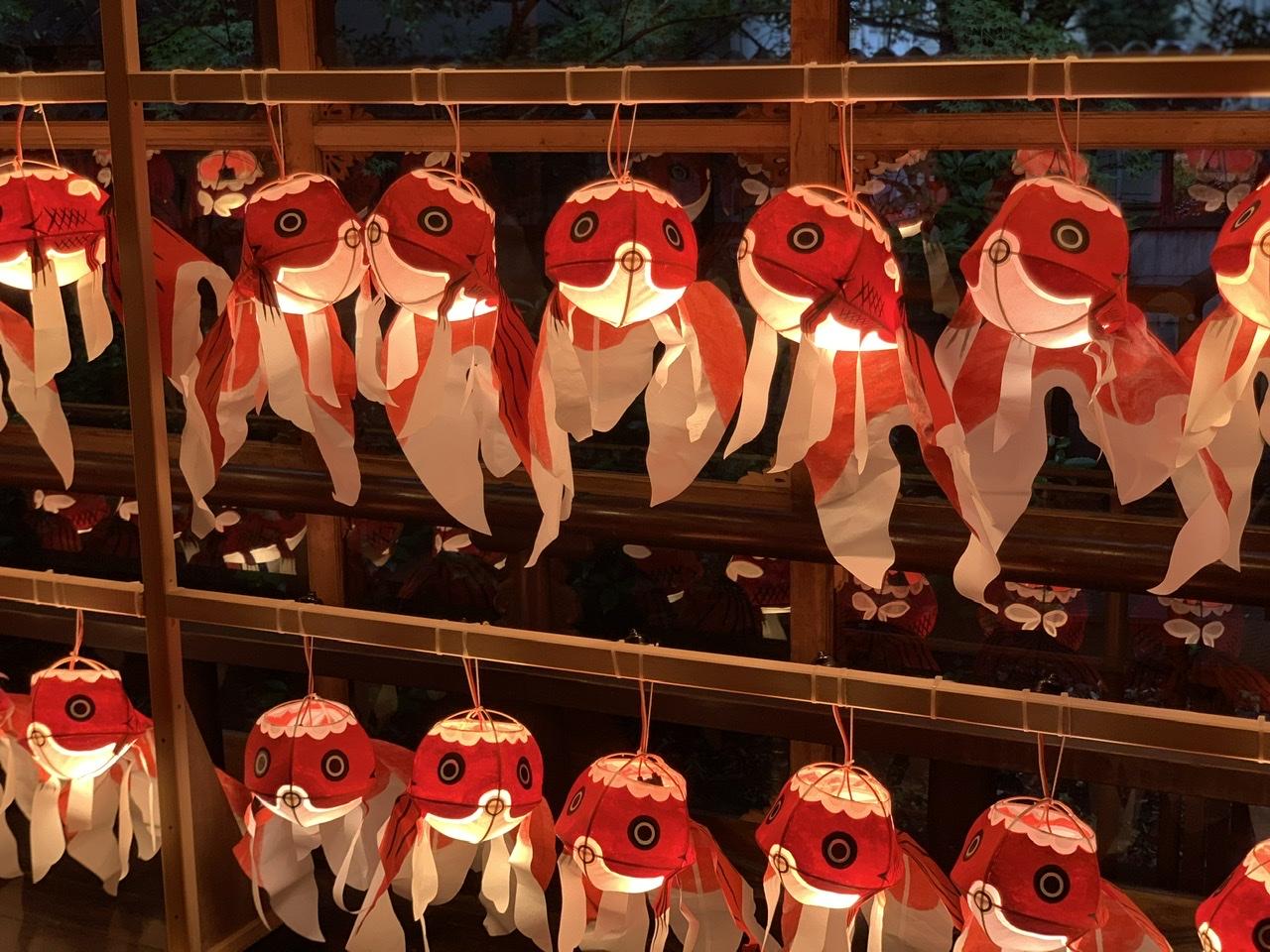 ホテル雅叙園東京の金魚ちょうちん
