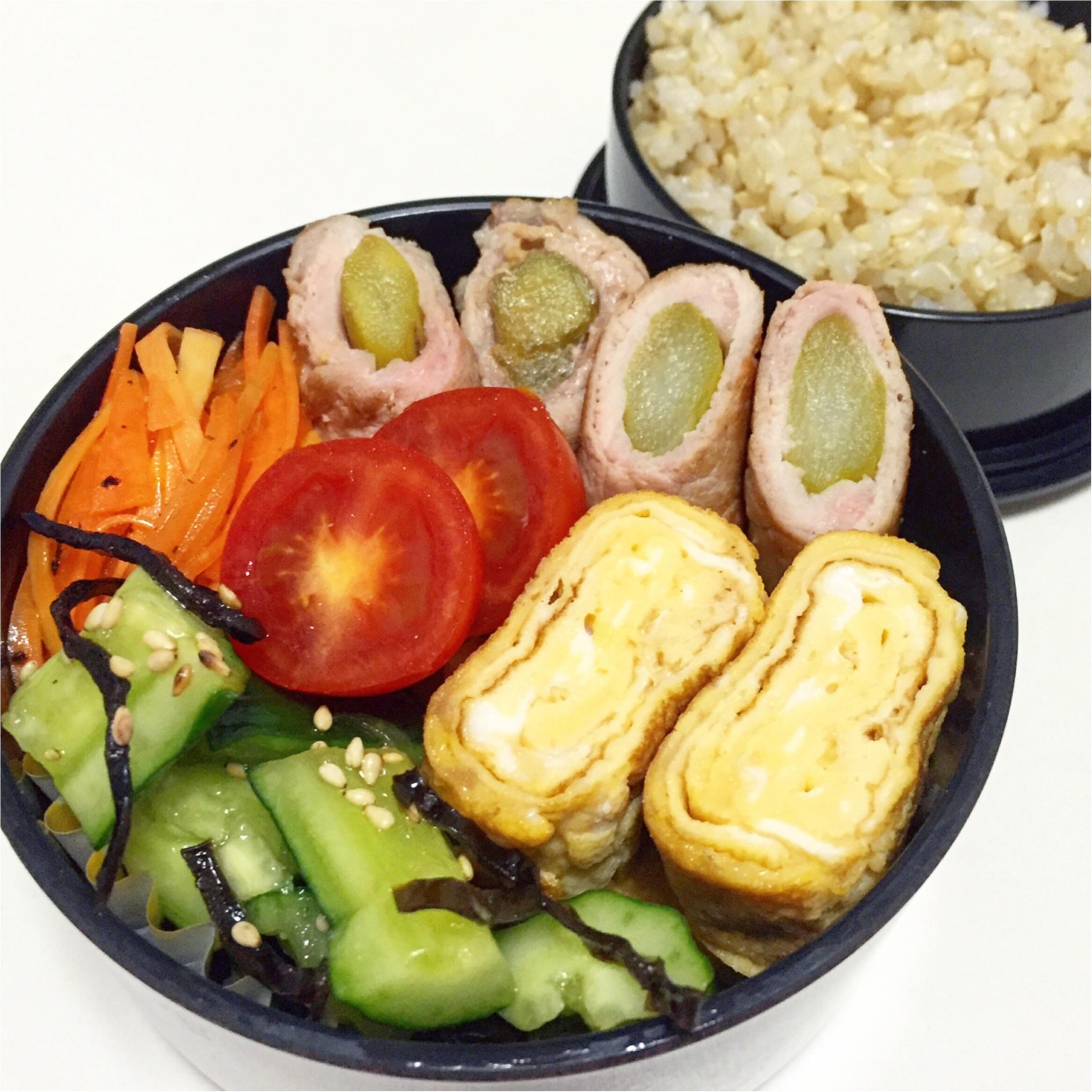 【彩りよくお弁当を作るコツ】つくりおきと1週間のお弁当_3