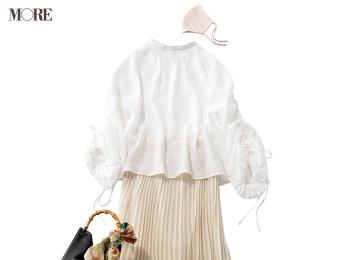 『GU』のブラウス×プリーツスカートで恋が加速! 3990円以下アイテムでこんなに可愛い着回し19日目