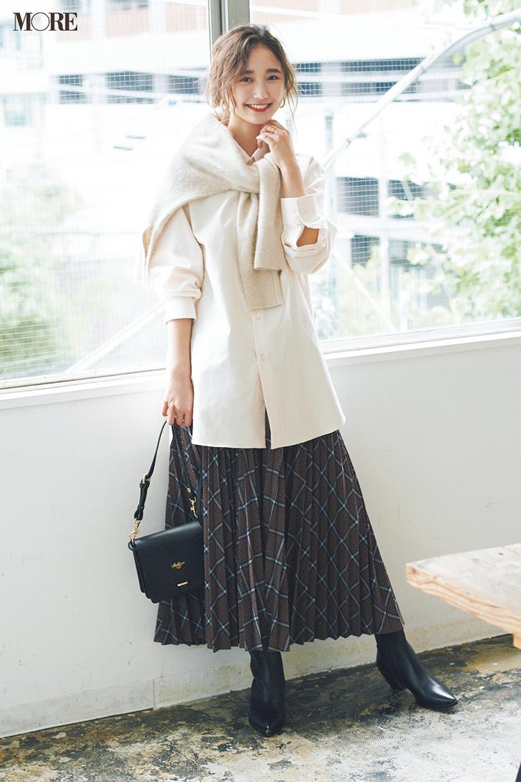 【今日のコーデ】<鈴木友菜>「キュートな日」に着たい♡クリーンな白と大好きなチェック柄の通勤コーデ_1