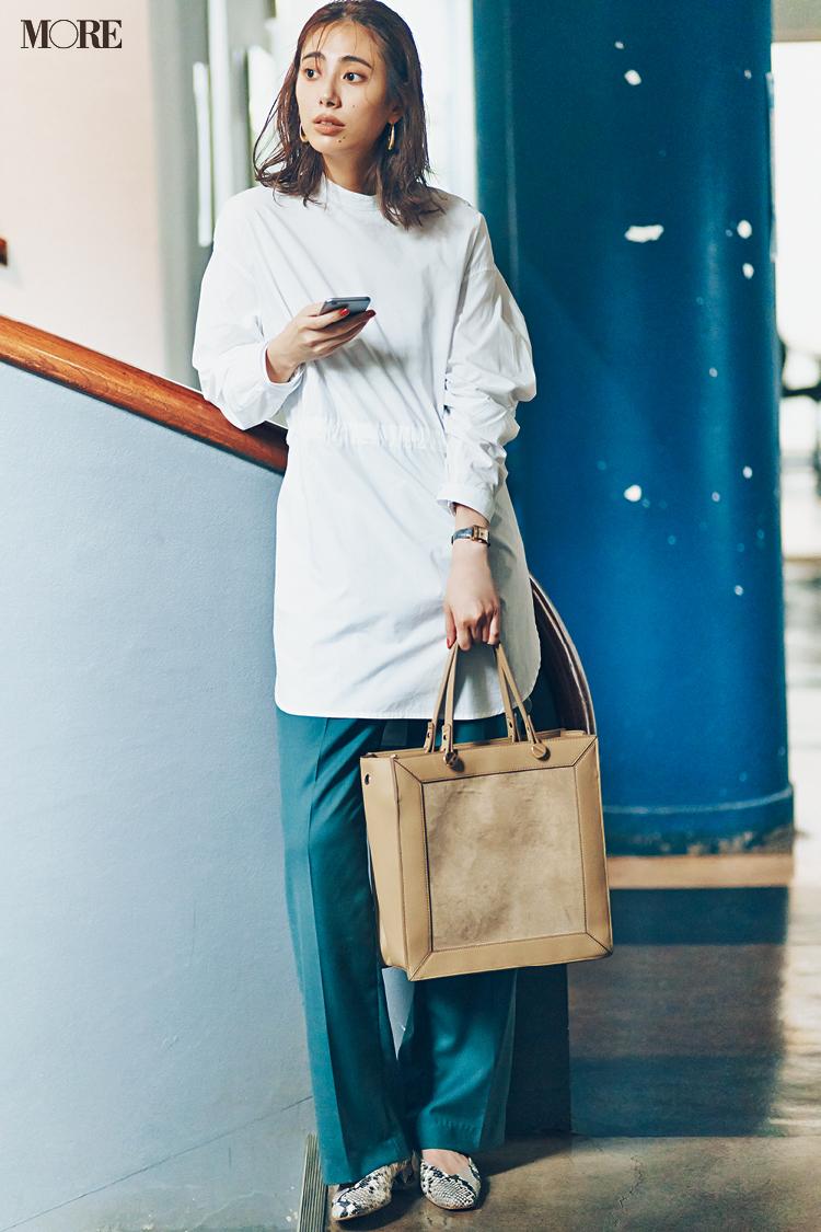 【今日のコーデ】<土屋巴瑞季>白トップスのコーデを更新! 新作バッグに旬柄パンプスなど格上げ小物がお役立ち♡_1