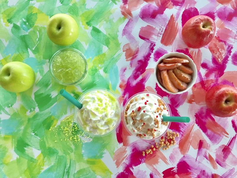 【スタバ 新作レポ】りんごのおいしさを楽しむ2つの新作フラペチーノ♡ グリーンとピンク、それぞれどんな味?_4