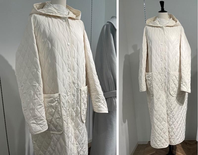 ココディール秋冬展示会で見つけたキルティングのコート
