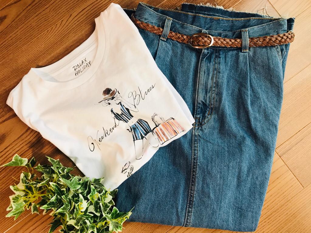 【GU】SNSで話題沸騰#神デニムアイテム!今春大注目《デニムフレアマキシスカート》は絶対買い♡_1
