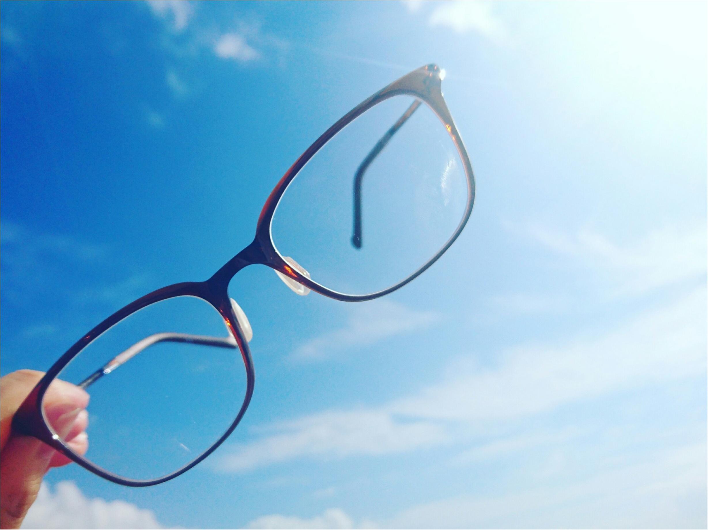 """"""" 夏 """" のマストアイテム ♪ Zoff【クリアレンズサングラス】目から吸収する紫外線をカットしよう! _2"""