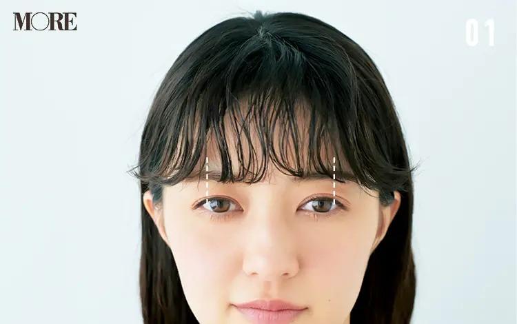 うねりを生かす前髪アレンジ「ゆるカールバング」【1】前髪を巻く