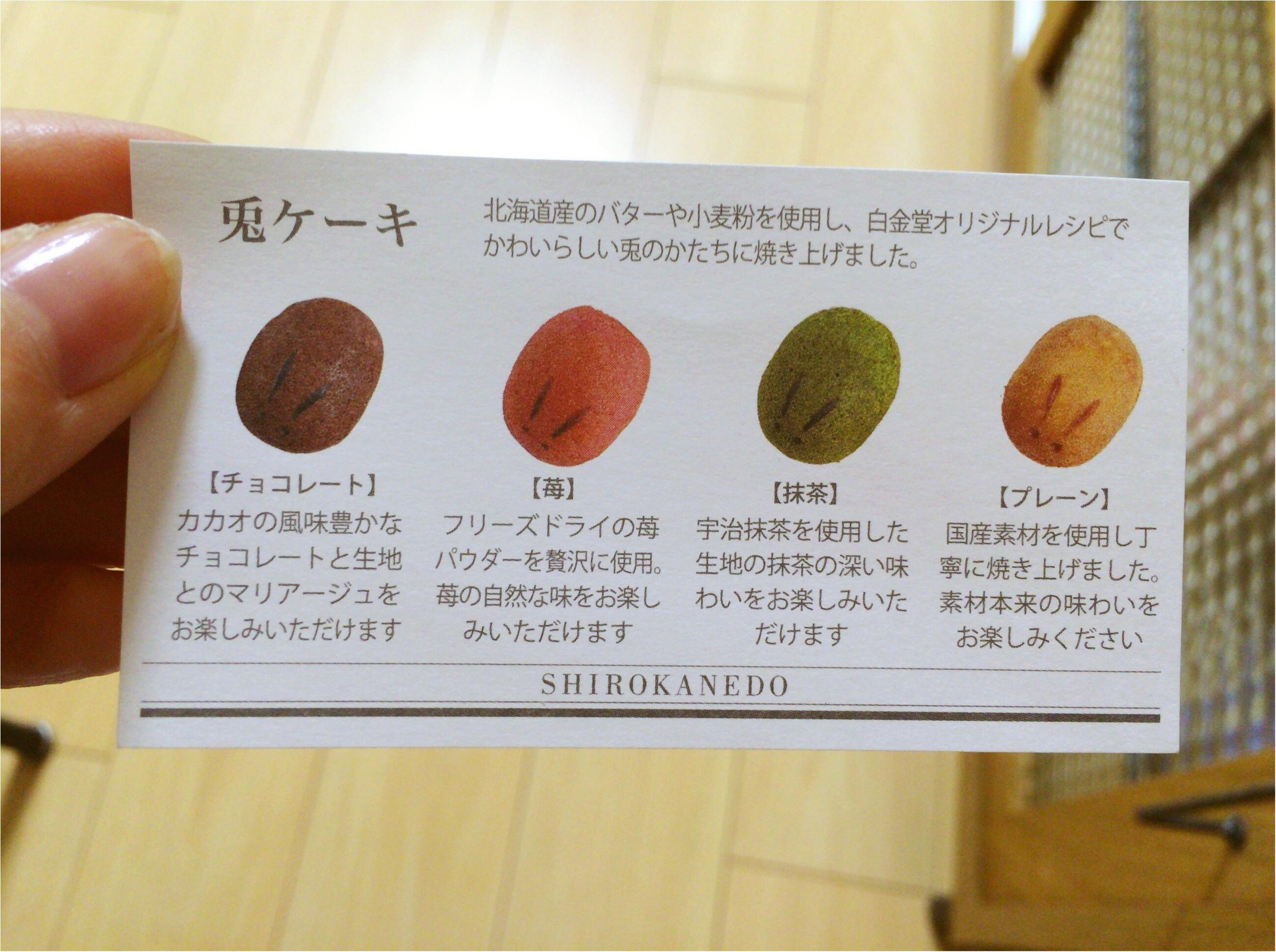 【新宿Sweets】可愛い!モチふわ美味しい!手土産に♡《白金堂》の「兎ケーキ」_3