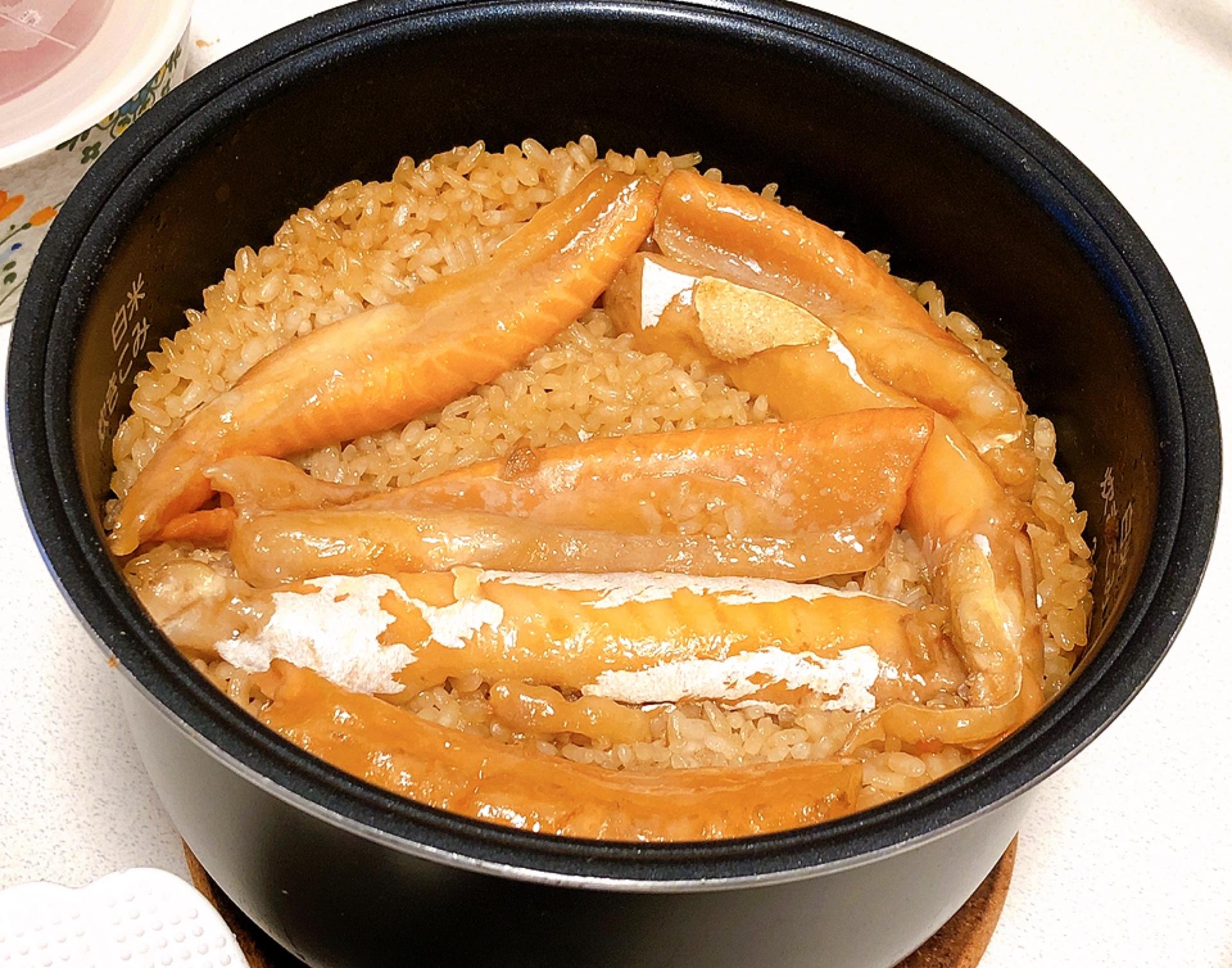 【簡単贅沢レシピ】お家で簡単に♩鮭といくらの親子炊き込みご飯( ´ ▽ ` )_3