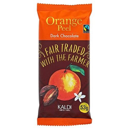 カルディおすすめチョコ「オリジナル フェアトレードチョコレートオレンジピール」